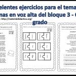 Excelentes ejercicios para el tema Leer poemas en voz alta del bloque 3 – Cuarto grado