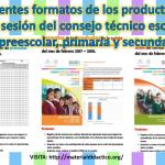 Excelentes formatos de los productos de la quinta sesión del consejo técnico escolar ciclo de preescolar, primaria y secundaria febrero 2018