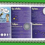 Fabuloso material para enseñar y aprender sobre el ciclo lunar, las estrellas, eclipses y constelaciones