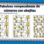 Fabuloso rompecabezas de números con abejitas