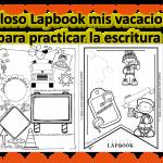 Fabuloso Lapbook mis vacaciones para practicar la escritura
