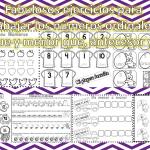 Fabulosos ejercicios para trabajar los números ordinales, mayor que y menor que, antecesor y sucesor