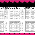 Fabulosa actividad recorta y pega los resultados de las multiplicaciones