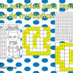 Excelente actividad para repasar las tablas de multiplicar