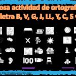 Fabulosa actividad de ortografía de las letra B, V, G, J, LL, Y, C, S y Z