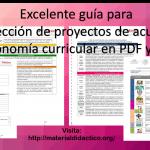 Excelente guía para la selección de proyectos de acuerdo a la autonomía curricular en PDF y WORD