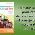 Excelentes formatos de los productos de la octava sesión del consejo técnico escolar – Primaria junio 2018