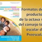 Excelentes formatos de los productos de la octava sesión del consejo técnico escolar de – Preescolar 2017 -2018 junio