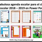 Fabulosa agenda escolar para el ciclo escolar 2018 – 2019 en Power Point