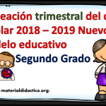Planeación trimestral del ciclo escolar 2018 – 2019 Nuevo modelo educativo – Segundo Grado