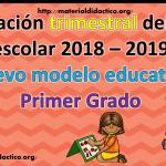 Planeación trimestral del ciclo escolar 2018 – 2019 Nuevo modelo educativo – Primer Grado