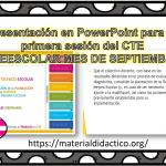 Excelente presentación en PowerPoint para la primera sesión del consejo técnico ciclo 2018 – 2019 del mes de septiembre – PREESCOLAR