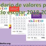 Calendario de valores para el ciclo escolar 2018-2019
