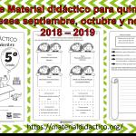 Excelente Material didáctico para quinto grado de los meses septiembre, octubre y noviembre 2018 – 2019