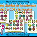 Lindos diseños de los números del 1 al 100 y las vocales