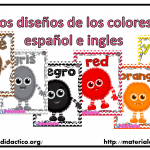 Lindos diseños de los colores en español e ingles