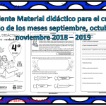 Excelente Material didáctico para el cuarto grado de los meses septiembre, octubre y noviembre 2018 – 2019