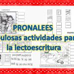 PRONALEES Fabulosas actividades para la lectoescritura