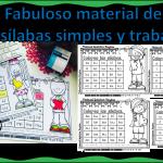 Fabuloso material de las sílabas simples y trabadas