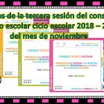 Fichas de la tercera sesión del consejo técnico escolar ciclo escolar 2018 – 2019 del mes de noviembre