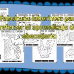 Fabulosos laberintos para reforzar el aprendizaje del abecedario