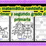 Villa matemática navideña para primer y segundo grado de primaria