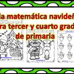 Villa matemática navideña para tercer y cuarto grado de primaria
