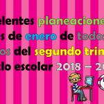Excelentes planeaciones del mes de enero de todos los grados del segundo trimestre ciclo escolar 2018 – 2019