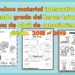 Material interactivo del segundo grado del tercer trimestre del mes de abril de conocimiento del medio 2018 – 2019
