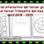Material interactivo del tercer grado para el tercer trimestre del mes de abril 2018 – 2019