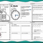 Actividades para trabajar el tiempo, el reloj, sumas e identificación de palabras para primer y segundo grado de primaria