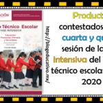 Productos contestados de la cuarta y quinta sesión del consejo técnico escolar de la fase intensiva ciclo escolar 2019 – 2020