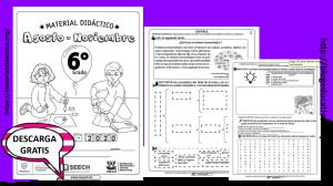 Fabuloso material didáctico de los meses agosto, septiembre, octubre y noviembre del sexto grado del ciclo escolar 2019 – 2020