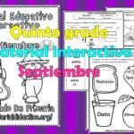 Material interactivo del quinto grado del mes de agosto y septiembre para el ciclo escolar 2019 – 2020