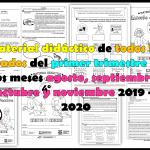 Material didáctico de todos los grados del primer trimestre de los meses agosto, septiembre, octubre y noviembre 2019 – 2020