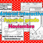 Material interactivo del segundo grado del mes de noviembre para el ciclo escolar 2019 – 2020