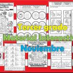 Material interactivo del tercer grado del mes de noviembre para el ciclo escolar 2019 – 2020