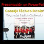 Presentación en PowerPoint de la segunda sesión ordinaria del consejo técnico escolar ciclo 2019 – 2020