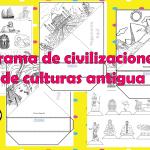 Triorama de civilizaciones y de culturas antigua