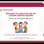 Programa Nacional de Convivencia Escolar fichero de actividades didácticas