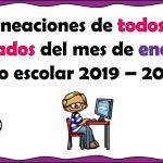 Planeaciones de todos los grados del mes de enero ciclo escolar 2019 – 2020