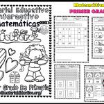 Material interactivo de matemáticas del primer grado del mes de febrero para el ciclo escolar 2019 – 2020