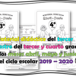 Material didáctico del tercer trimestre del tercer y cuarto grado de los meses abril, mayo y junio del ciclo escolar 2019 – 2020