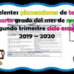 Excelentes planeaciones de tercer y cuarto grado del mes de marzo segundo trimestre ciclo escolar 2019 – 2020