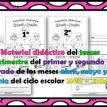 Material didáctico del tercer trimestre del primer y segundo grado de los meses abril, mayo y junio del ciclo escolar 2019 – 2020