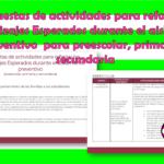 Propuestas de actividades para reforzar los Aprendizajes Esperados durante el aislamiento preventivo  para preescolar, primaria y secundaria