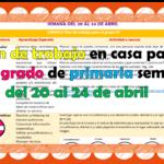 Plan de trabajo en casa para sexto grado de primaria semana del 20 al 24 de abril