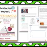 Actividades de repaso escolar para el tercer grado del ciclo escolar 2019-2020 español