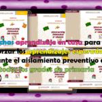 Fichas aprendizaje en casa para reforzar los aprendizajes esperados durante el aislamiento preventivo de todos los grados de primaria