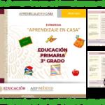 Fichas de aprendizaje en casa para reforzar los aprendizajes esperados durante el aislamiento preventivo del tercer grado de primaria